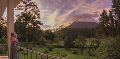 The view of Arenal Volcano from our villa - Arenal Observatory Lodge, Costa Rica (Jonmikel & Kat-YSNP) Tags: costarica arenal volcano forest april vacation centralamerica