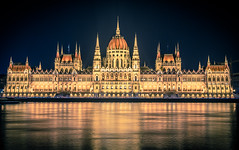 The parliament at night (Vagelis Pikoulas) Tags: budapest pest river danube canon 6d tokina 2470mm reflection reflections hungary europe travel long exposure night nightscape city cityscape