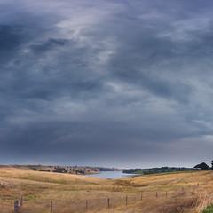 Coliban Reservoir- (Shaun (spt750)) Tags: coliban shaunthomson cloud country dam farm hills landscape rain reservoir skyscape spillway sunset upper water