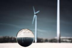 powerball (O l l i . B .) Tags: landschaft landscape infrared infrarot windmill glaskugel strom energie wind glasssphere windrad ollib oliverbuchmann canoneos400d canonefs18135mm niederhein kreiswesel