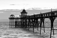 Tidal flow (The Green Album) Tags: ocean sunset sea water architecture pier waves horizon victorian listed clevedon