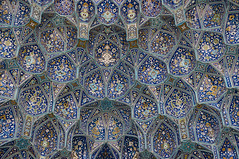 Patterns of Persia (Brave Lemming) Tags: travel art architecture wonder gate iran geometry mosaic islam middleeast persia mosque adventure tiles esfahan touring biketour islamic isfahan imam mosque worldtravel bicycletour bravelemming
