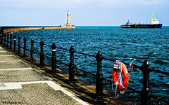 Roker Pier Sunderland (Chapmanc123) Tags: life uk light sea england lighthouse house building water stone architecture 35mm pier belt ship fuji victorian e nautical railing northeast fujinon x1 sunderland roker xf safc