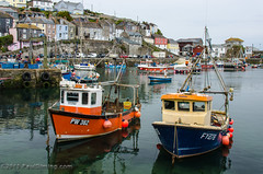 Pair Of Fishing Boats - Megavissey, Cornwall, England, UK (Paul Diming) Tags: uk greatbritain england landscape boats boat spring unitedkingdom fishingboat fishingvillage mevagissey mevagisseycornwall d7000 mevagisseyuk pauldiming mevagisseycornwallengland mevagisseyengland