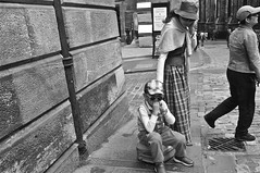 A case for a wee rest ... (vmanseventy) Tags: edinburgh edinburghcastle streetphotography royalmile castlehill