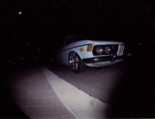 BMW in the dark.