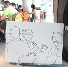 """chat"" - 6B pencil (Nora MacPhail) Tags: toronto sketch drawing sketching draw sketchkit urbansketch"