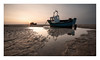"""""""Sail Away With Me Honey"""" (A-D-Jones) Tags: new light sea sun seascape beach set landscape puddle boat sand warm brighton sailing angle wide mooring ripples wallasey wirral moored meols leasowe"""
