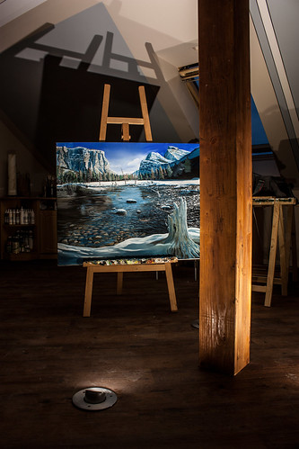 Yosemite Nationalpark Acrylpainting in my Atelier