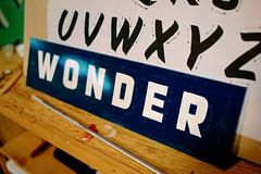 Wonder (scottboms) Tags: sanfrancisco california signs home wonder pounce sancarlos signpainting