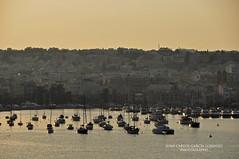 Ta'Xbiex. Sunset (Juan C. Garca Lorenzo) Tags: travel sunset puerto nikon europa europe mediterranean harbour eu malta viajes puestadesol mediterrneo ue taxbiex marsaxmett marsaxmettharbour puertodemarsaxmett