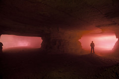 Brouillard en carrière (flallier) Tags: paris souterrain carrière calcaire limestone quarry fumée brouillard pilierstournés fumigène fumi gravelle