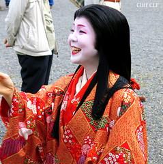 Always smiling.... (CLF) Tags: kyoto geiko  gion matsuri jidai   2013 kobu tsuruha