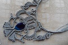 fiordaliso con pietra (patty macramè) Tags: collier bijoux collana margarete gioiello girocollo margaretenspitze