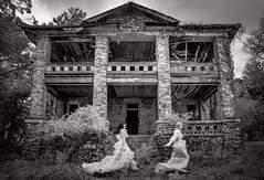 returning the echo of a point in time (Rodney Harvey) Tags: old longexposure blackandwhite house blur abandoned dance women frolic time south run eerie spooky plantation infrared ghosts antebellum