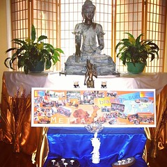 Here is a photo of our shrine for the Rocky Mountain Buddhist Center Urban Retreat.  Kay sending love from Missoula Montana USA.  #urbanretreat