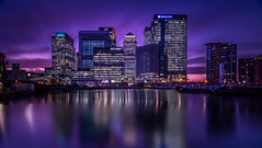 Canary Wharf (LeePellingPhotography.co.uk) Tags: city sunset london water lights long exposure cityscape quay wharf nd canary filters financial