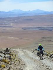 The steep climb on Uturuncu
