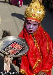 Krishn (Blinkofanaye) Tags: india animal festival child religion feather peacock fair crown facepaint pushkar rajasthan krishan ajmer alms sarovar 2013 tirtharaj
