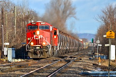 MP 10 of Vaudreuil Sub (Michael Berry Railfan) Tags: quebec montreal canadianpacific cp ge generalelectric gevo es44ac cp9367 vaudreuilsub