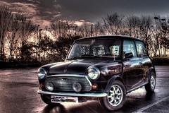 Mini Thirty (Crisp-13) Tags: black classic 30 austin real wheels mini rover 1989 hdr 1959 alloy thirty