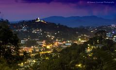 Twilight to Kandy town seen at Hanthana Mountain (Sri Lanka) (Nuwan Liyanage - Sri Lanka) Tags: longexposure urban mountain landscape 50mm town twilight srilanka kandy hanthana