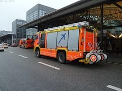 Hamburg Airport ... (Dennis Deng) Tags: blue light man truck fire pump emergency feuerwehr tlf blaulicht hlf uploaded:by=flickrmobile flickriosapp:filter=nofilter