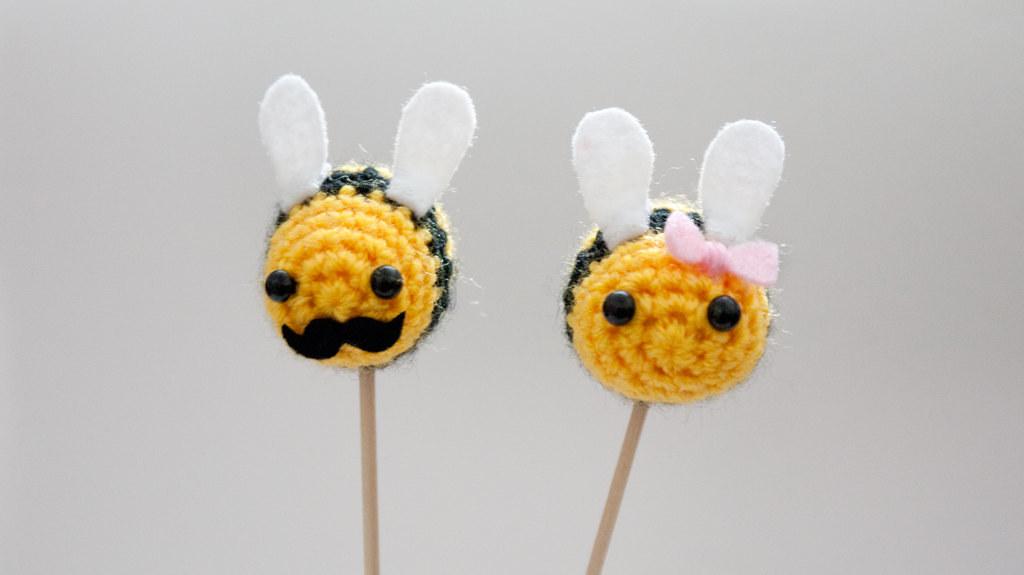 Crochet Bee Cake Topper