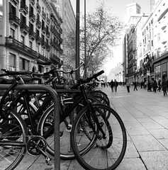Parking (esteveb) Tags: barcelona street bw bin carrer d7000