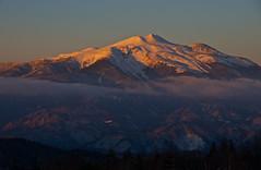 10 minutes before sunset, Orange variations 2 (Yoshia-Y) Tags: sunset mtnorikura mtkisoontake