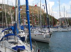 Bozburun Harbour, Marmaris, Turkey (east med wanderer) Tags: turkey boats harbour turkiye yachts marmaris turchia turkei bozburun worldtrekker