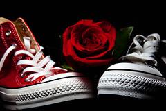 Be my Valentine... (Alex Stoen) Tags: 045365 580exii 5dmk2 alexstoen alexstoenphotography amor amour canon canoneos5dmarkii canonste2 canonspeedlite580exii collection converse ef24105f4lisusm emparejados flash flashphotography flickr flower love pareja picasa picassa presents project365 regalos romance romantic romantico rosa rose ste2 sanvalentine shoes speedlite580exii together valentine valentinesday white zapatillas zapatos macro red webh