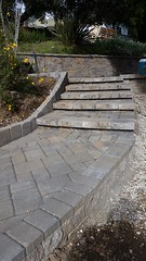 Krebs_Taylor_Santa Cruz (bdlmarketing) Tags: krebs taylor santacruz landscape hardscape pavers paverstones belgard cambridgecobble victorian walkway steps retainingwall