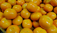 Persimmon fruits at the farmer market (phuong.sg@gmail.com) Tags: abundance agriculture collection diospyros exotic food foods fresh fruit fruits ingredient ingredients japan kaki kakis khaki kyoto local lots many market markets nutrition persimmon persimmons raw rural sale sales selling sharon stall stuffs surface sweet tokyo tropical uncooked yellow simple