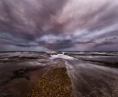 Seascapeology II (Crouchy69) Tags: sunset dusk landscape seascape ocean sea water coast clouds sky rocks flow motion north narrabeen pool beach sydney australia