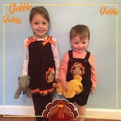 IMG_5527 (Jessica and Kevin O'Brien) Tags: november 23 2016 kaity keegan thanksgiving matching outfits turkey