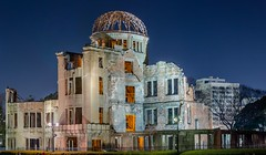 Hiroshima Peace Memorial (Atomic Bomb Dome) (FranksValli) Tags: accidentsanddisasters architecture asia atomicbomb atomicbombingofhiroshima buildingexterior builtstructure city colorimage damaged dome famousplace hiroshimapeacememorial hiroshimaprefecture history horizontal japan japaneseculture monument nationallandmark nopeople nuclearweapon officebuildingexterior oldruin outdoors ruined symbolsofpeace tourism travel traveldestinations unescoworldheritagesite war weaponsofmassdestruction worldwarii