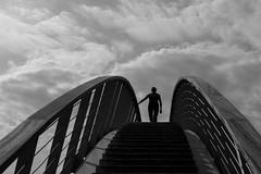 stairway to heaven (Eric Spies) Tags: brücke bridge nijmegen nimwegen clouds wolken silhouette silhouetten silhouettes monochrom monochrome mono sky himmel fujifilm fujinon fuji xt10 xc 1650 black white bw schwarzweiss kontrast kontraste contrast contrasts treppe stairs stairway wandelbrug brug ooijpoort ooypport ooij ooy ooijpolder ooypolder waal waalstrand niederlande skywalk skywalker skywalking netherlands nederland gelderland guelders ooyseschependom street ooypoort