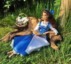 To Read in Repose (MaxxieJames) Tags: belle beauty beast doll disney princess barbie made move custom