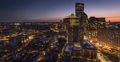 Boston Blue Hour (scott.hammond34) Tags: boston cityscape usa america sunset bluehour skyline skyscraper lights city colour vibrant building architecture urban longexposure hdr hotel canon 6d ef1635f4