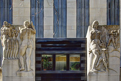 "NYC - Rockefeller Center - ""Radio/Television"", Leo Friedlander, 1934 (David Pirmann) Tags: newyorkcity rockefellercenter artdeco leofriedlander basrelief 30rock sculpture art nyc"
