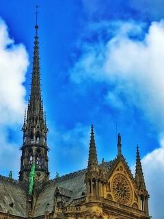 Paris   France  ~  Notre-Dame Cathedral  ~ Cathédrale Notre-Dame de Paris ~ Pinacle