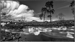 Roseberry Topping and Pond B&W_4170012 (www.jon-irwin-photography.co.uk) Tags: roseberry topping pond reflection aireyholme farm gt ayton