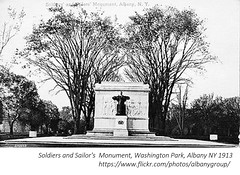 Soldiers and sailor's monument  Washington Park and NOrthern Boulevard  1913  albany ny (albany group archive) Tags: early 1900s