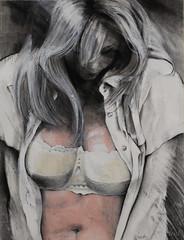 DSC_8509+web (jiri.metod) Tags: woman girl drawing conte charcoal acryl paper mixedmedia nude