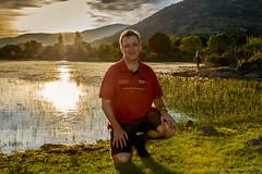 Atardecer en la laguna (estebanjvr) Tags: rojo atardecer laguna españa spain sunshine hombre man handsome