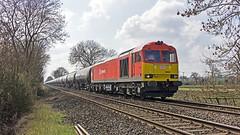 60063 Goverton FP Xing 23 03 2017 (John-Sydney-Han) Tags: class60 60063 dbc nottinghamlincoln trentvalley tanks kingsbury immingham