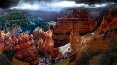 Bryce Canyon (shchukin) Tags: brycecanyon utah usa landscape rain cliff hoodoo rocks shchukin nikond5200 nikon sigma