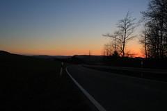 Dusk (_dankhn) Tags: dusk sunset sauerland hochsauerland nrw germany deutschland landscape orangesky countryside landschaft silhouette nordrheinwestfalen street mittelgebirge strase northrhinewestphalia bluesky sky atmosphere dämmerung evening