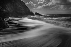 Highlights in Surf, Whitsand Bay, Cornwall (Mick Blakey) Tags: swell shoreline slowexposure tidal cornish cliffs receding moody coastpath sea clouds shadows contrast coastline tide monochrome coastsurf cornwall coastal surf blackwhite seascape cove coast whitsandbay dramatic
